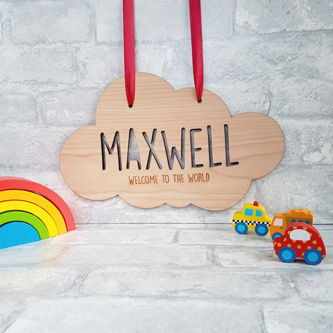 Newborn Cloud Hanging Plaque