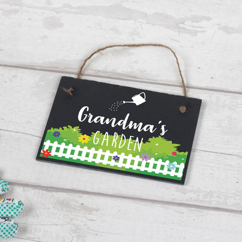 Personalised Slate Garden Plaque for Grandma & Mums