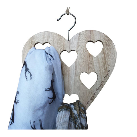 Personalised Heart Scarf Hanger