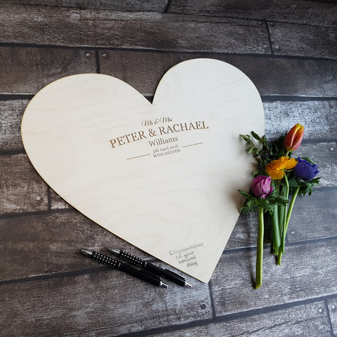 Wedding Guestbook Heart