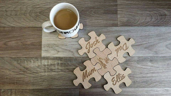 Wooden Puzzle Coasters