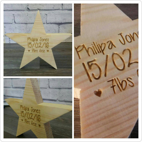 Free Standing Wooden Birth Star