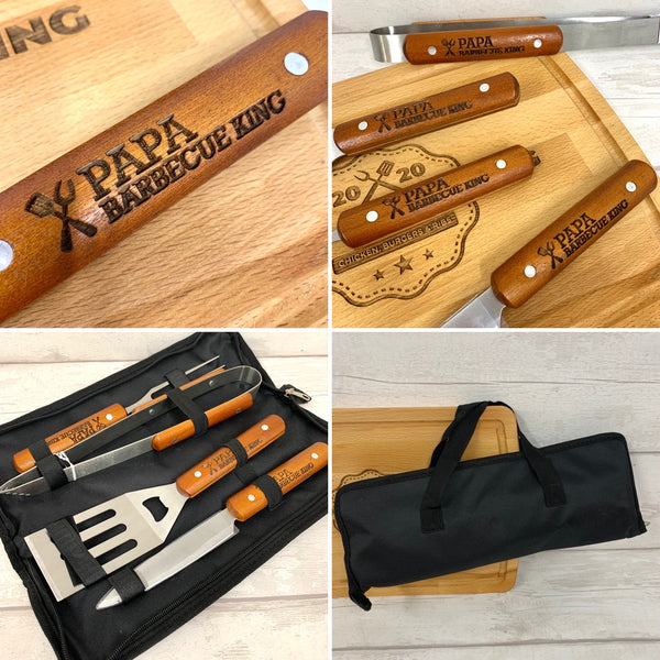 Barbecue 4 Piece Set in Zip up Case