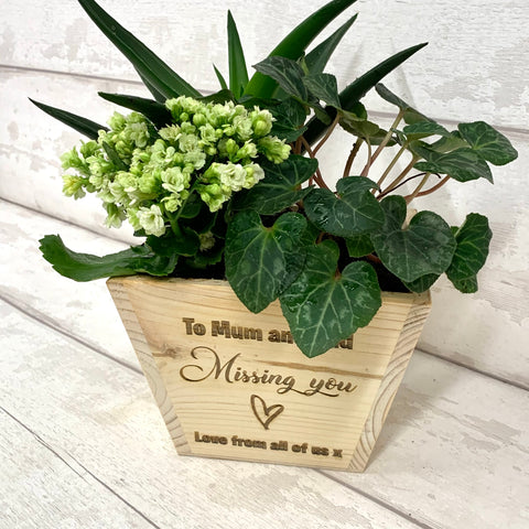 'Missing You' Personalised Plant Pot