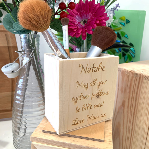 Makeup Brushes Personalised Pot