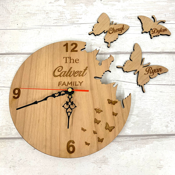 Butterfly Clock - personalised