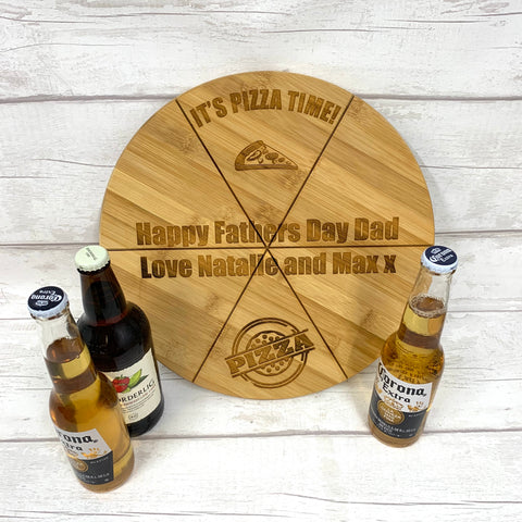 Pizza Board - Personalised bamboo pizza board