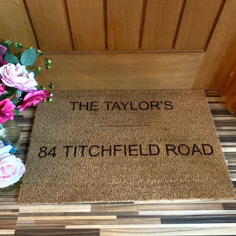 Natural Door Mat - Personalised