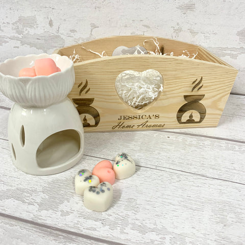 Wax Melt Gift Set - Wooden Heart Box