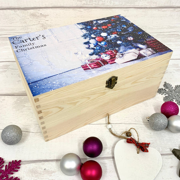Family Box with tree & gifts - Christmas Eve Box - New Design