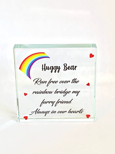 Glass Square Furry Friend Memorial Gift
