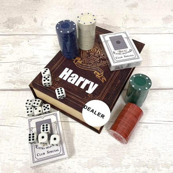 Poker, Dice & Chip Set - personalised
