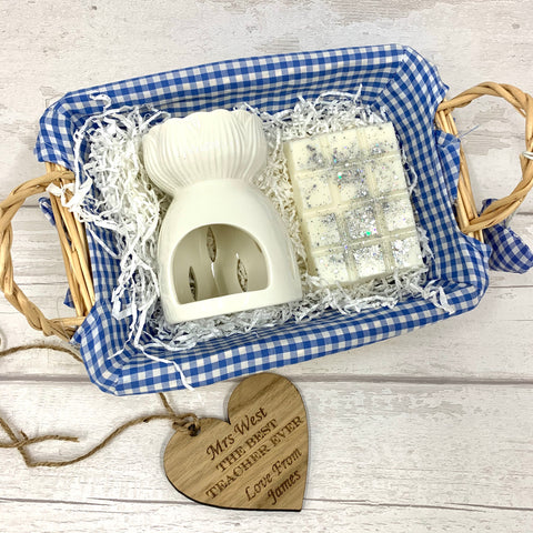 Wax melt basket gift set BLUE