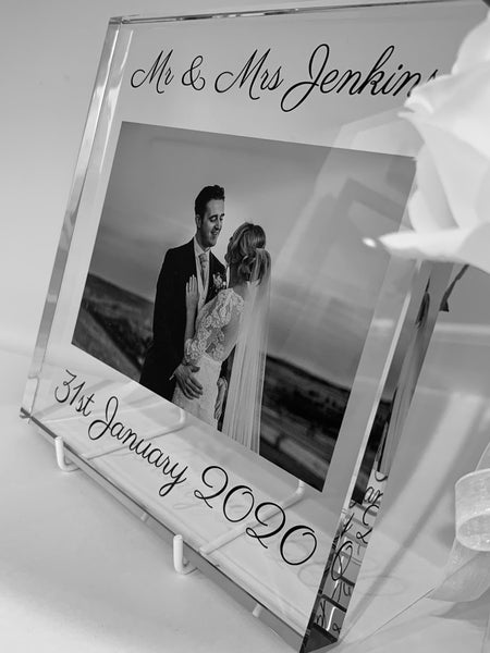 Glass Square - Large - Wedding/Couples