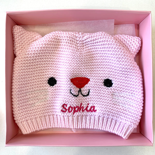 Cotton Knitted Hat - personalised