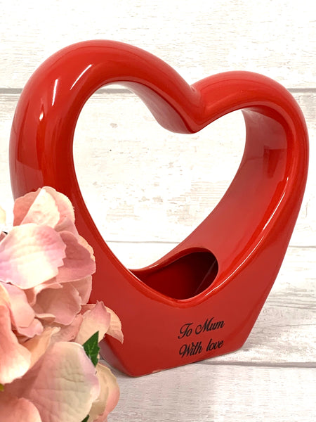 Ceramic Heart with personalised message