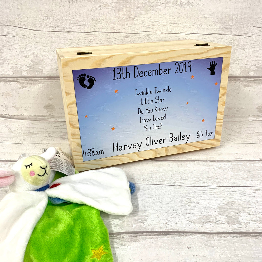 New Born Baby Memory Box - Twinkle Twinkle Design