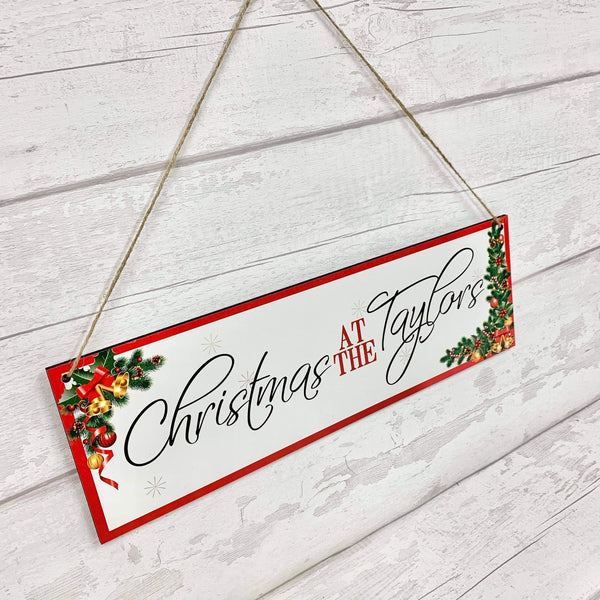 Christmas Hanging Name Plaque
