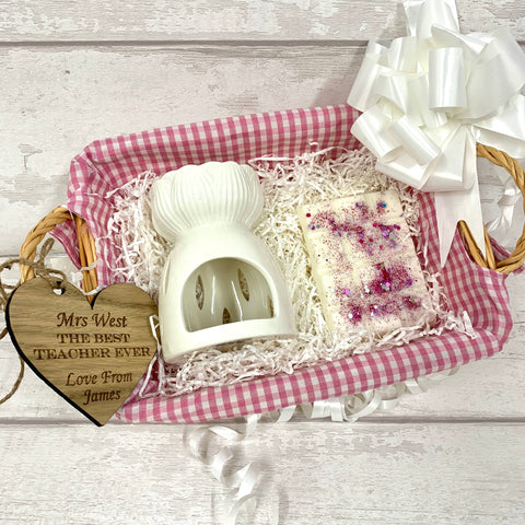 Wax melt basket gift set - PINK