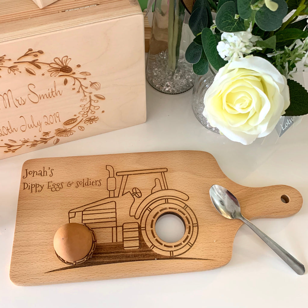 Tractor Dippy Egg Board (new design)