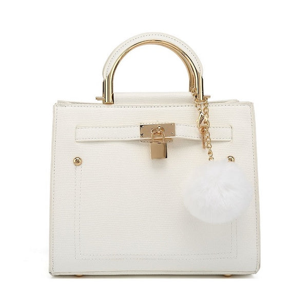 Faux Leather Puff Ball bag with FREE cherrywood #BeKind keyring