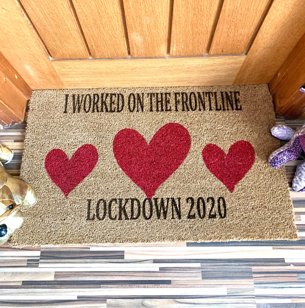 Door mat, Lockdown 2020 Frontline Doormat