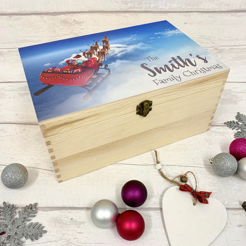 Family Box with Sleigh - Christmas Eve Box - New Design