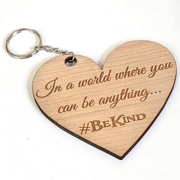 Checked Tote Bag & Purse Set with FREE #BeKind cherrywood keyring