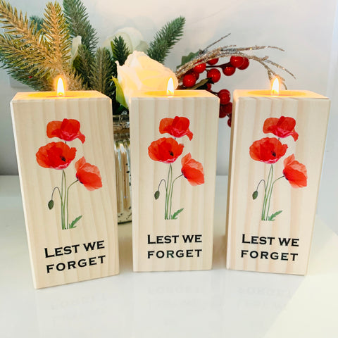Lest We Forget - Poppy Tea Light