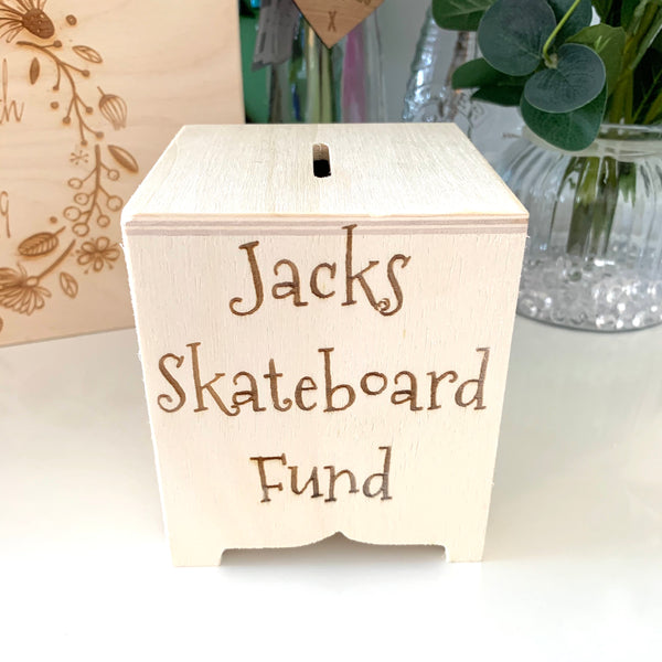 Wooden Personal Money Box