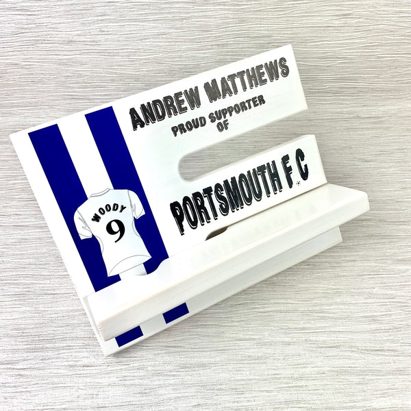 Footy Phone Stand - Personalised with your team