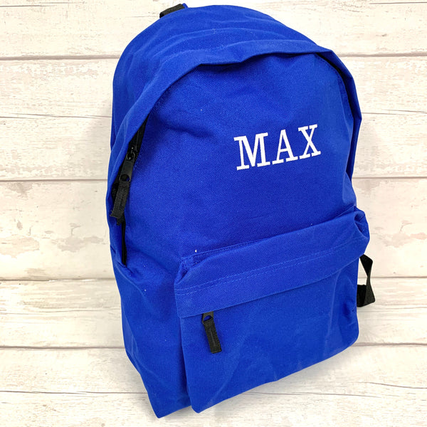 School Rucksack/school bag - personalised