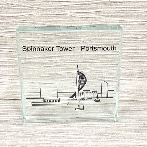 Spinnaker Tower glass ornament