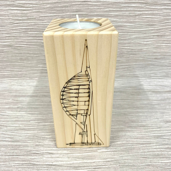 Spinnaker Tower - Personalised Tea Light Holder