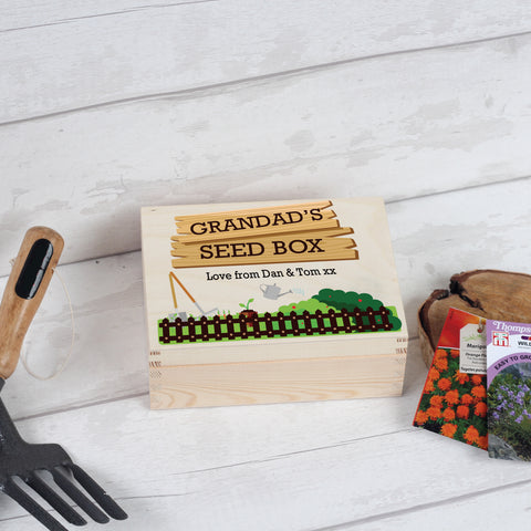 Personalised Grandad / Dad Garden Seed Box