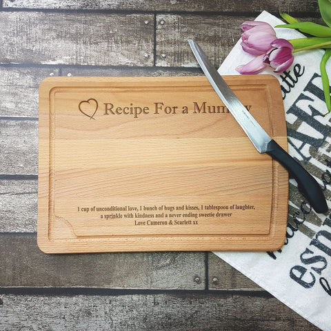 Recipe For A Mummy Chopping Board