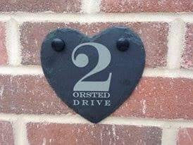 Slate Door Number Plaque