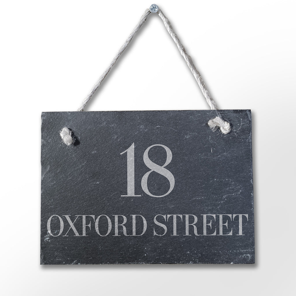 Slate Plaque Door Sign