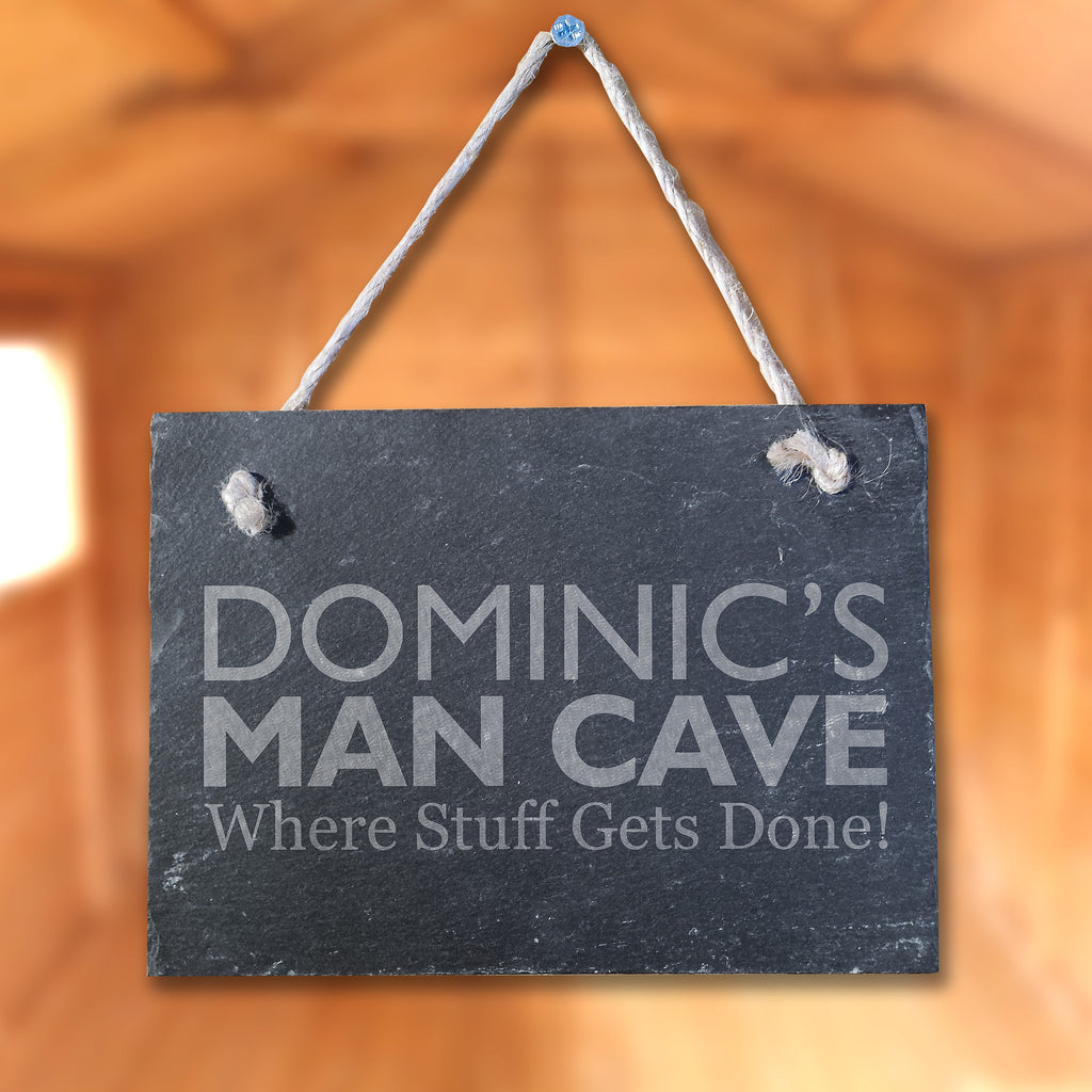 Slate Plaque 'Dominic's Man Cave'