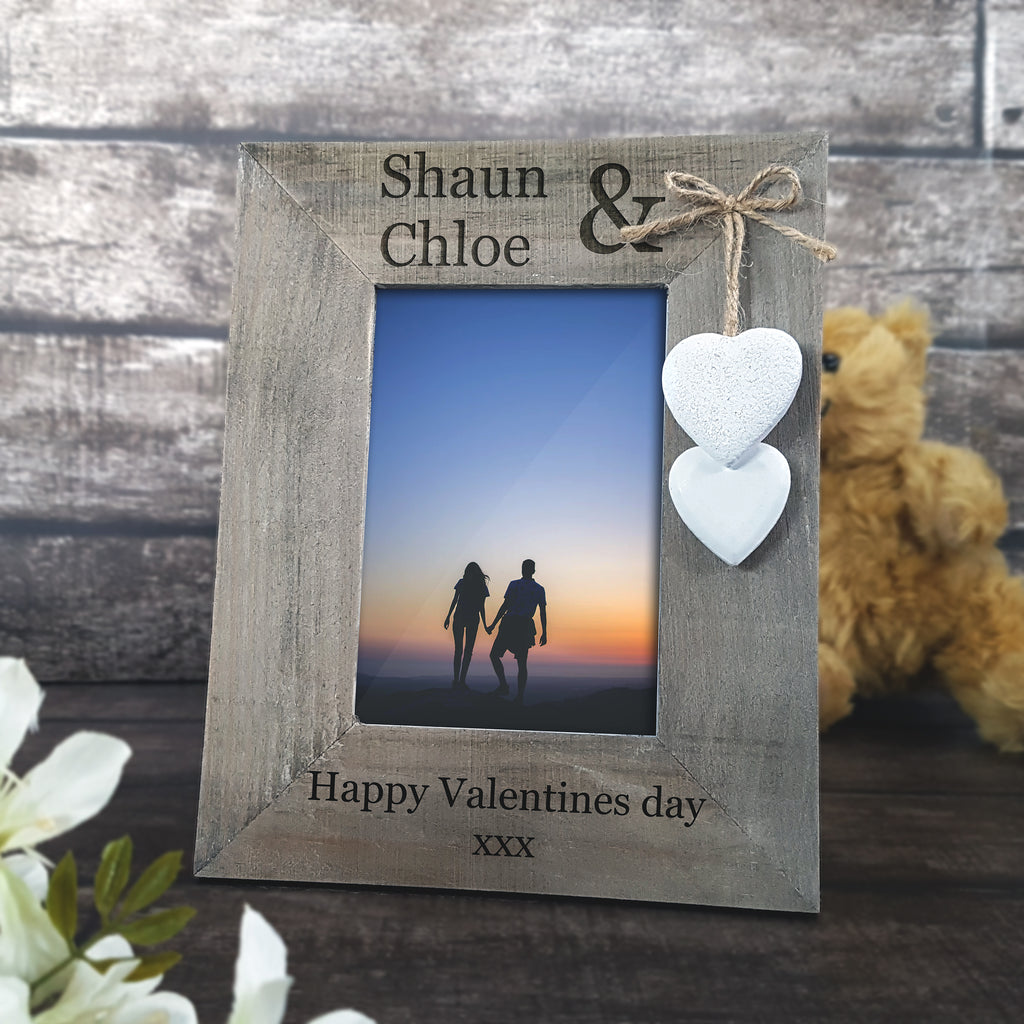 Rustic Wooden Valentines Frame