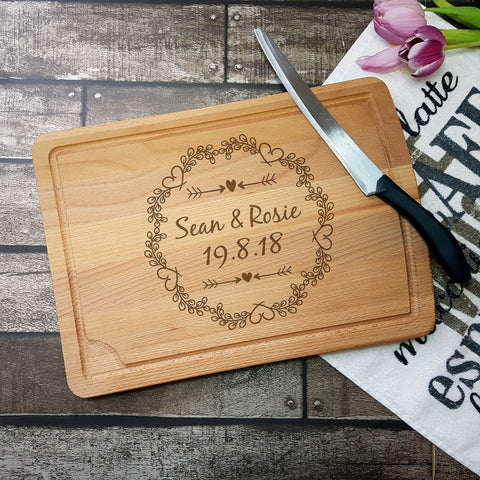 Couples Wedding Chopping Board