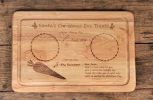 Personalised Santa's Christmas Eve Treats Board - Personalised For