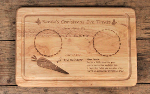 Santa's Christmas Eve Treats Board - Personalised For