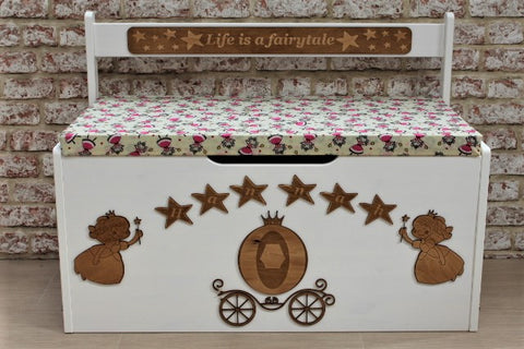 Personalised Toy Box - Fairy - ukhomeware