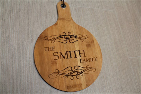 Personalised Engraved Family Bamboo Chopping board - ukhomeware