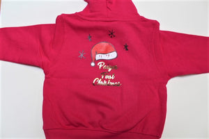 Personalised Baby Hoodie - First Christmas - ukhomeware