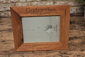 Godmother Gift Personalised Oak Picture Frame