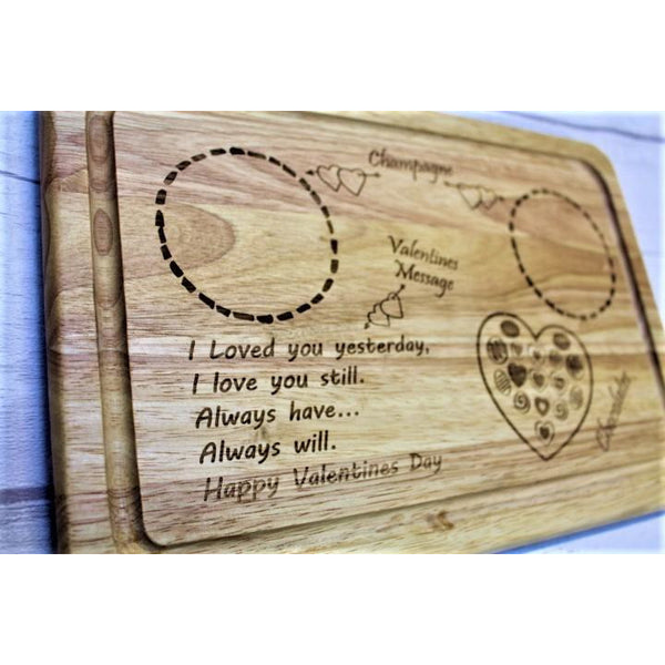 Valentine's Day Drinks and Treats Board - ukhomeware