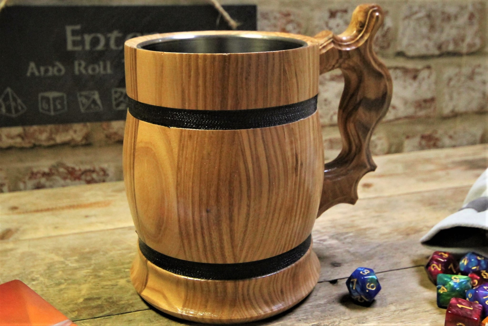 Personalised Wooden Tankard. Engrave with your message by Personalised For