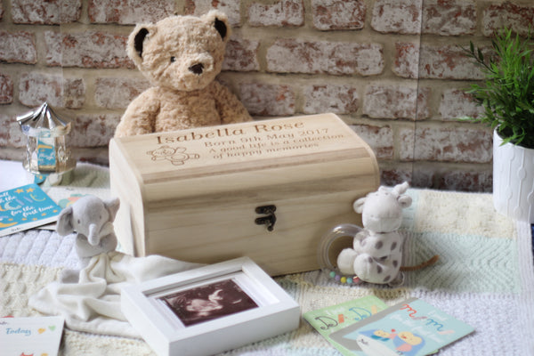 Baby Memory Box With Baby Bear - ukhomeware